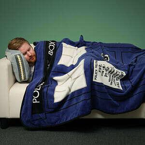 Exclusive Doctor Who TARDIS Throw Blanket