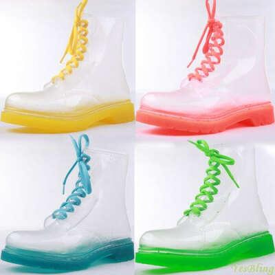 Прозрачные резиновые ботинки