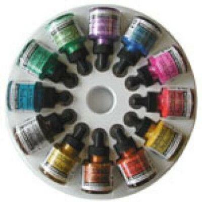 Dr Martin's Iridescent Calligraphy Colors - Set of 12 Metallic Colors