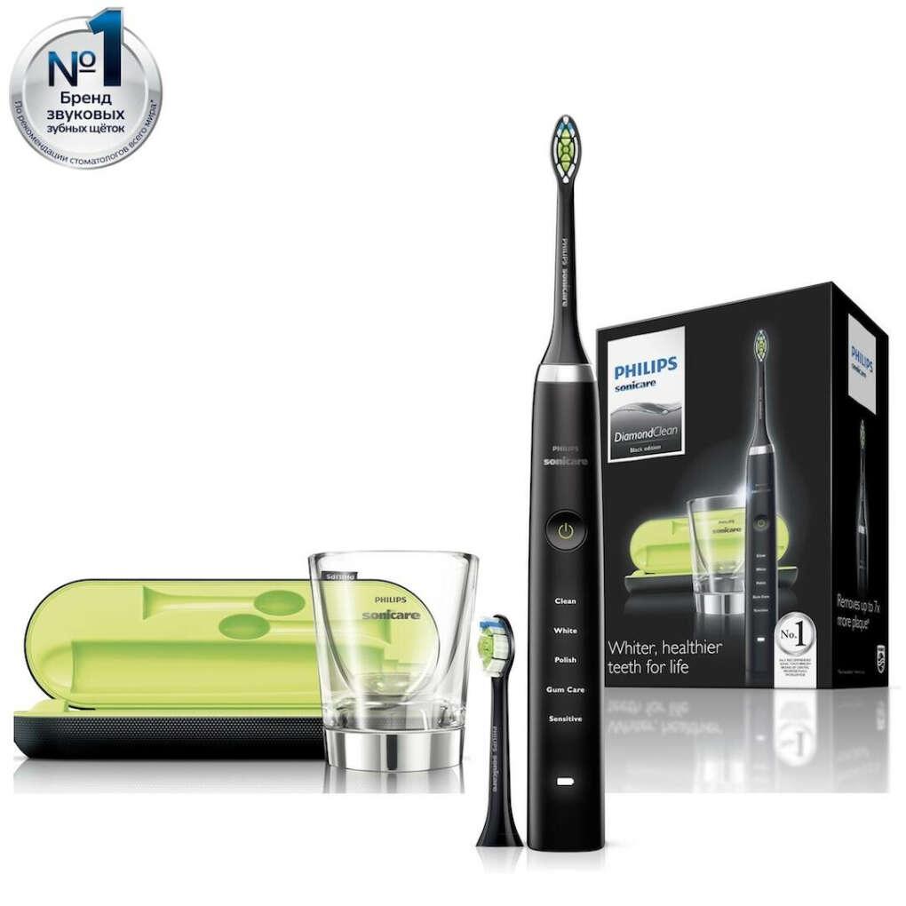 Электрическая зубная щетка Philips Sonicare DiamondClean HX9352 с зарядным стаканом и дорожным футляром