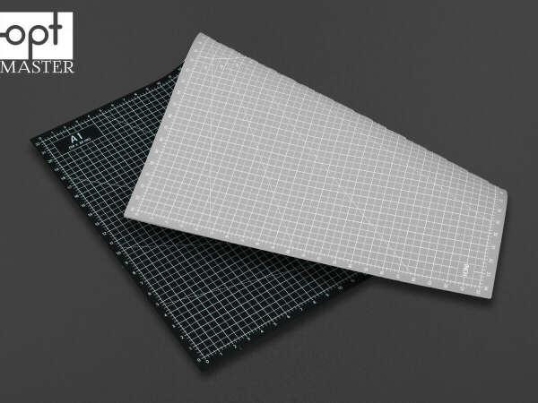 Коврик А1 для раскройки кожи и ткани двухсторонний Серый+чёрный