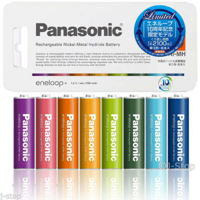 8 Panasonic Eneloop Tones 2100 Times Rechargeable AA Size Batteries 1900mAh