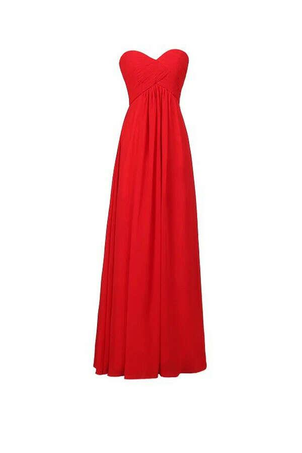 Anneprom A-Line Chiffon Sweetheart Bridesmaid Long Evening Gown APB0012