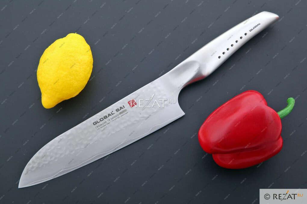 Нож сантоку Global Sai 19 см