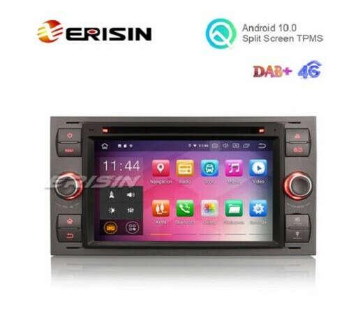 "Erisin ES5166F 7"" Android 10.0 Car Multimedia with GPS Radio DVD for FORD Fiesta kuga Fusion Mondeo - Erisinworldwide"
