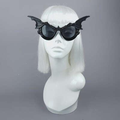 """Vamp"" Bat Wing Filigree Catseye Sunglasses"