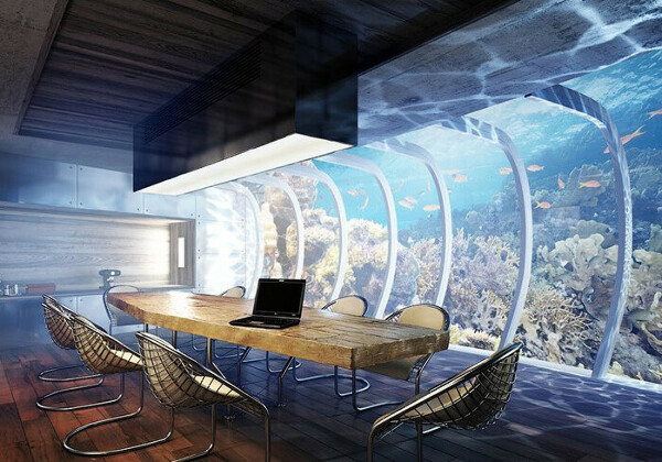 Побывать в отеле под водой