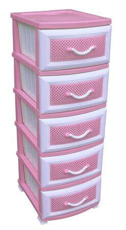 НО-002 Комод 5-ти этажный Розовый