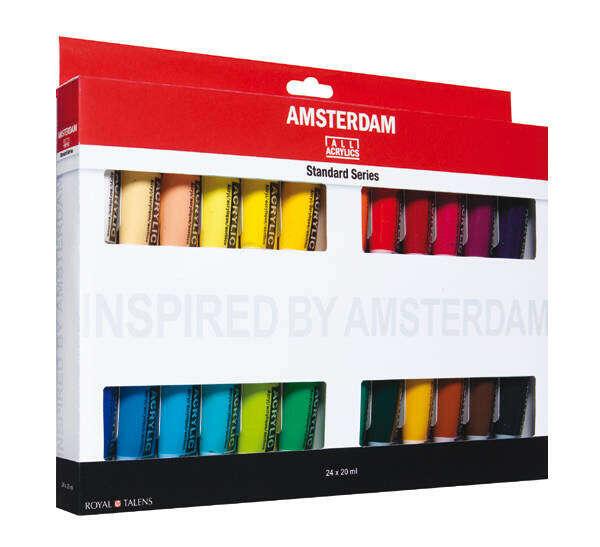 "Набор акрила Talens ""Amsterdam"" 24 цв стандарт"