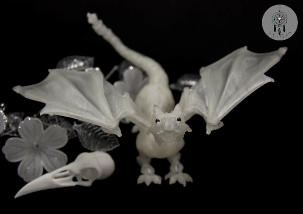 Дракон шарнирный BJD (БЖД) без росписи