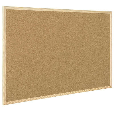 Доска пробковая Bi-Office, 45х60 см, деревянная рама