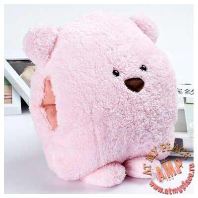 Розовая подушка-муфта Bear cub
