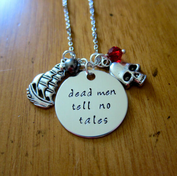 Pirates of the Caribbean Inspired Necklace. Dead men tell no tales.