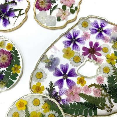 Мастер класс: изделия из эпоксидной смолы и цветов