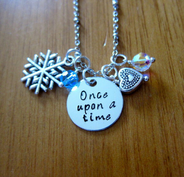 """Princess Elsa Inspired Necklace. """"Once Upon A Time""""."""