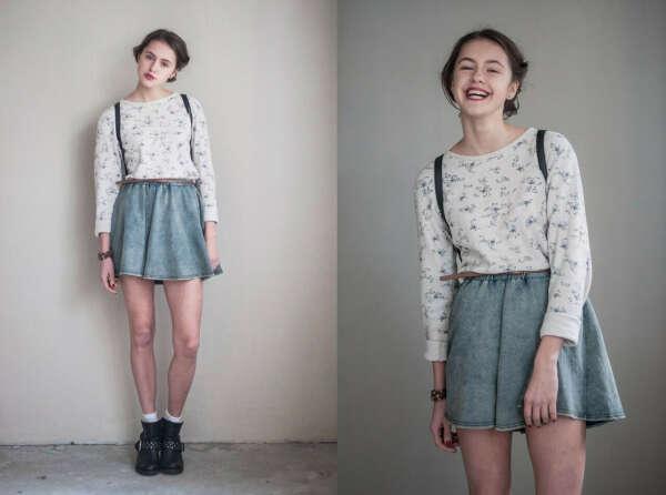 Джинсовую юбку