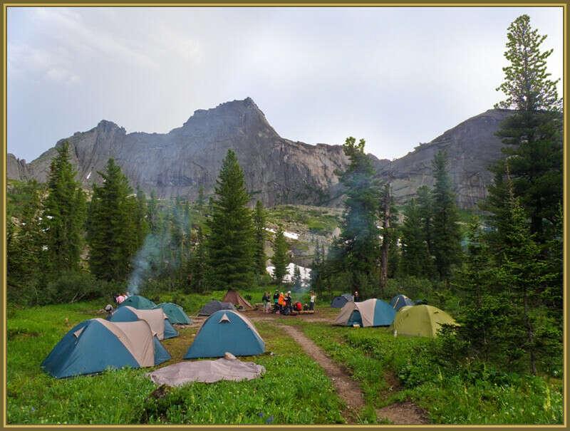Поход с палатками
