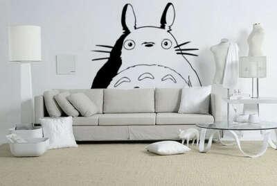 Нарисовать на стене Тоторо