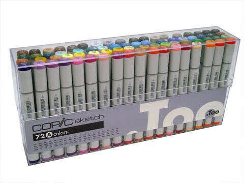Набор маркеров Copic Sketch 72pc Set A