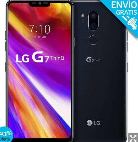 """LG G7 ThinQ (LMG710EM), Banda 4G / LTE / WiFi, 64 GB de Memoria Interna, 4 GB de RAM, 3000mAh, Pantalla de 15,5 cm (6.1""""), Cámara de 16 MP, Sistema Android 8.0. Color Negro (Black). - Smartphone completamente libre."""
