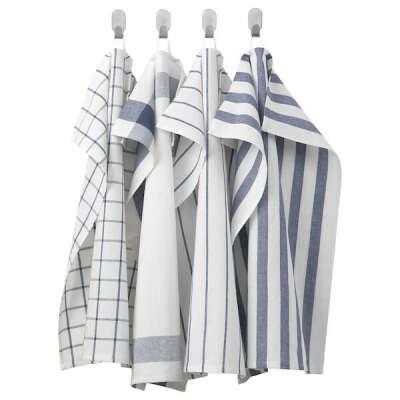 ЭЛЛИ Полотенце кухонное, белый, синий - IKEA