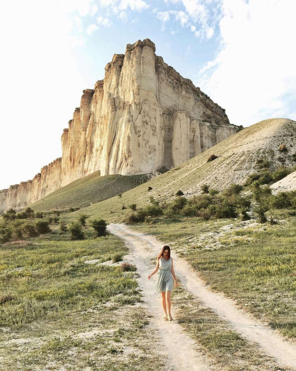 Сфотографироваться на фоне Белой скалы