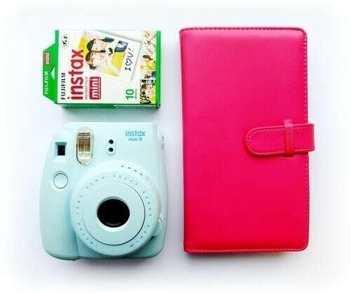 """Набор """"Instax Mini 8"""" Blue в упаковке Cloud бренда Fujifilm"""