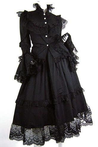 получить готическое платье