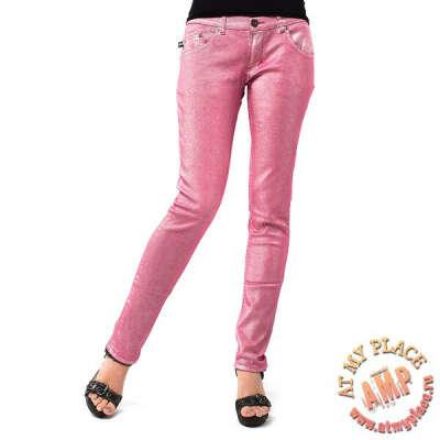 Розовые блестящие джинсы Darkside