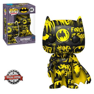 Фигурка Funko POP! DC: Batman 01 Black/Yellow with Case (Стикер Special Edition)