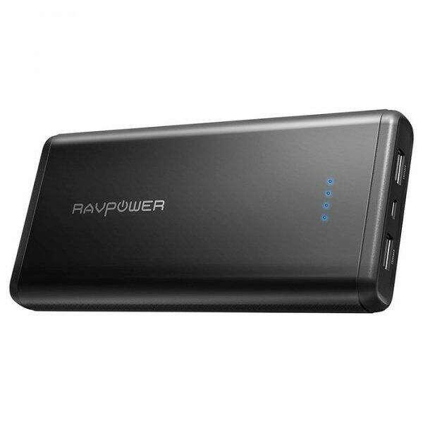 Зовнішній акумулятор (Power Bank) RAVPower Power Bank Xtreme Black 20000mAh (RP-PB006BK)