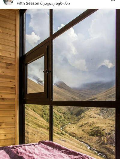 Посетить Грузию, и такой вид из окна в отеле Fifth seasons