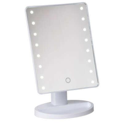 Косметическое зеркало с подсветкой LARGE LED MIRROR белое