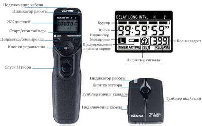 Беспроводной программируемый пульт интервалометр Viltrox JY-710