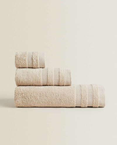 Однотонные хлопковые полотенца