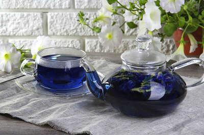 Попробовать синий чай из Тайланда