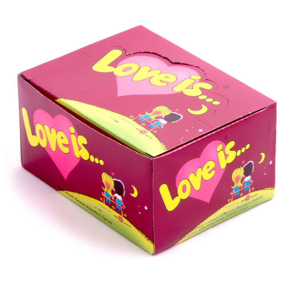 """Блок жвачек Love is — """"Вишня-Лимон"""""""