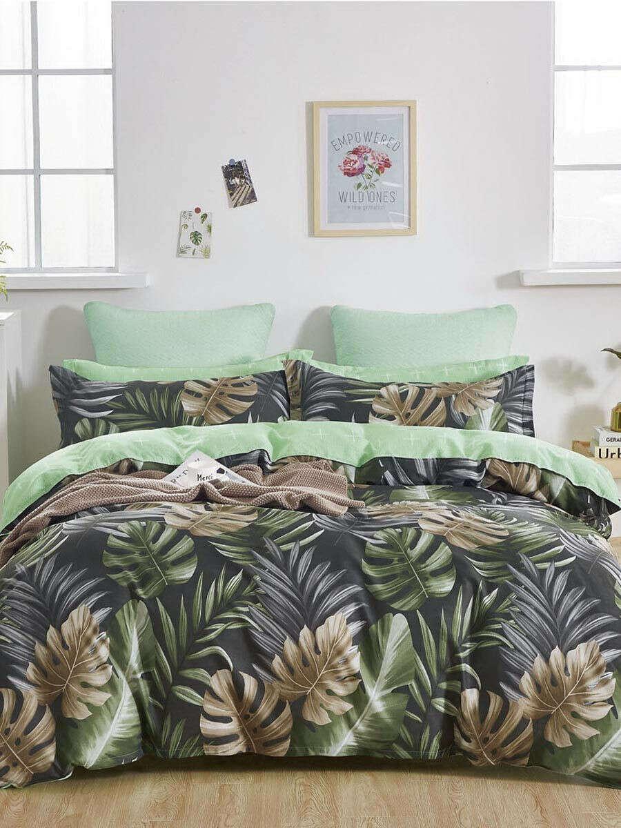 Комплект постельного белья Сатиновый Евро наволочки 50х70, Мосальский Текстиль