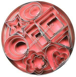 Набор формочек, металл, 2-4 см, 8 видов, 24 шт.