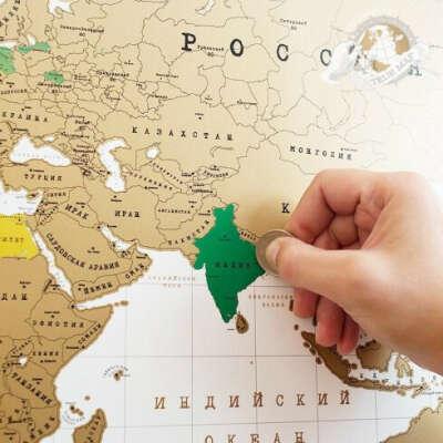 Truemap - стиральная скретч карта путешествий