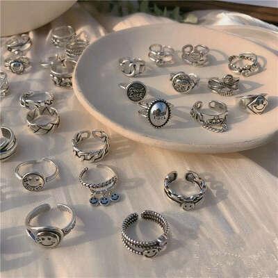 разные кольца, серебряные и простые
