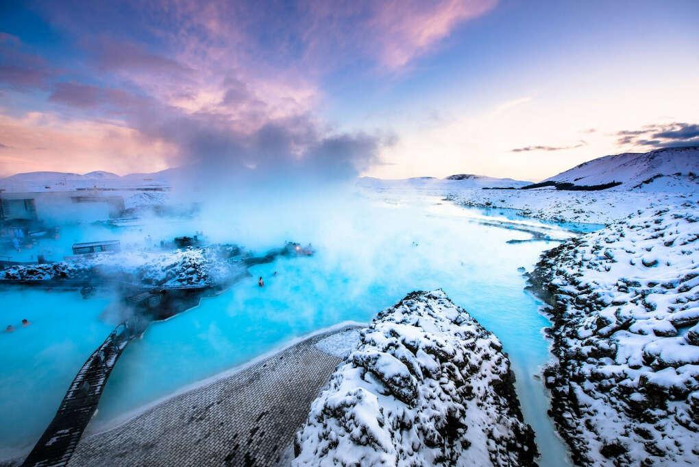 Окунаюсь в Голубую лагуну, Исландия