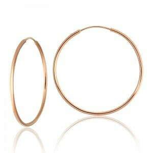 золотые серьги кольцами. большие кольца