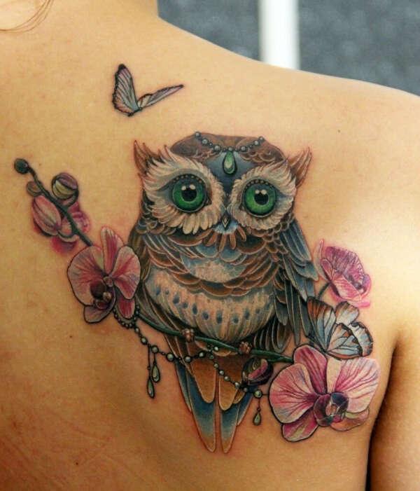Сделать татуировку с совой