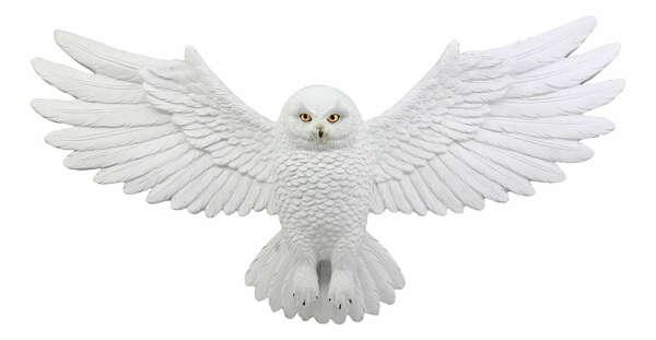 Snowy Owl Wall Decor Plaque