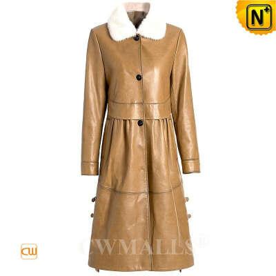 Women Down Coat   Women Winter Fur Trim Leather Down Coat CW602609   CWMALLS®