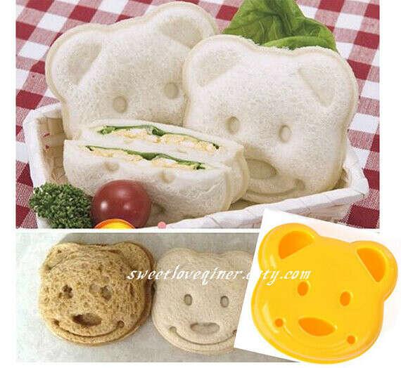 Smiley Face Bear Shape Sandwich M