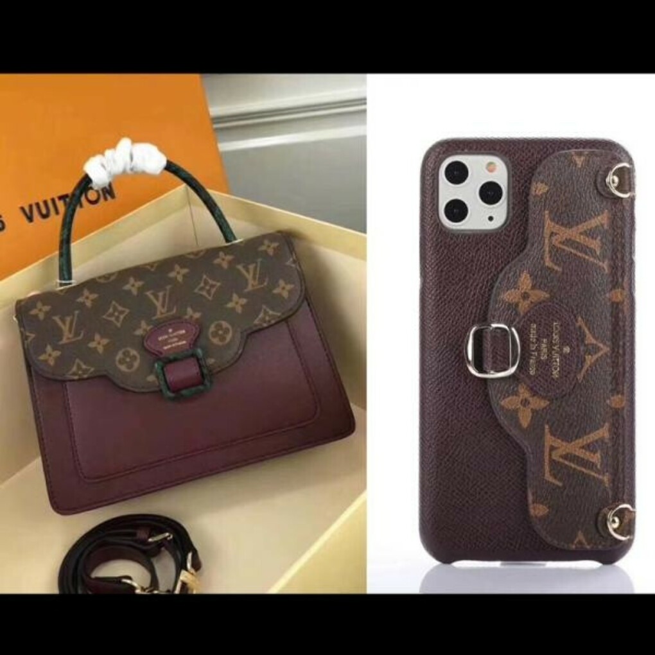 ヴィトン iPhone SE/11/11pro maxケース モノグラム LV アイフォン11プロカバー カード入れ ブラント iphone xr/xs/xs maxケース ルイヴィトン ストラップ付き