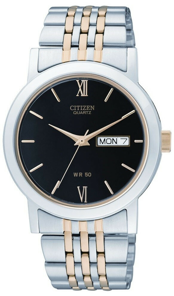 Citizen BK4054-53F Quartz 50m Dual Tone Calendar Display Elegant Gents Watch
