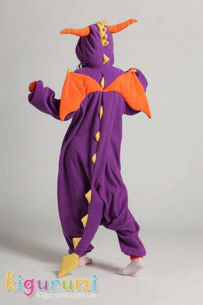Костюм кигуруми - Фиолетовый дракон